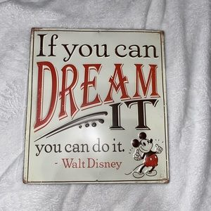 Mickey Mouse quote, metal picture